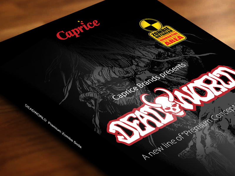 Caprice Brands - Deadworld Soda - Logo, Branding, Website, Strategy, Sales collateral