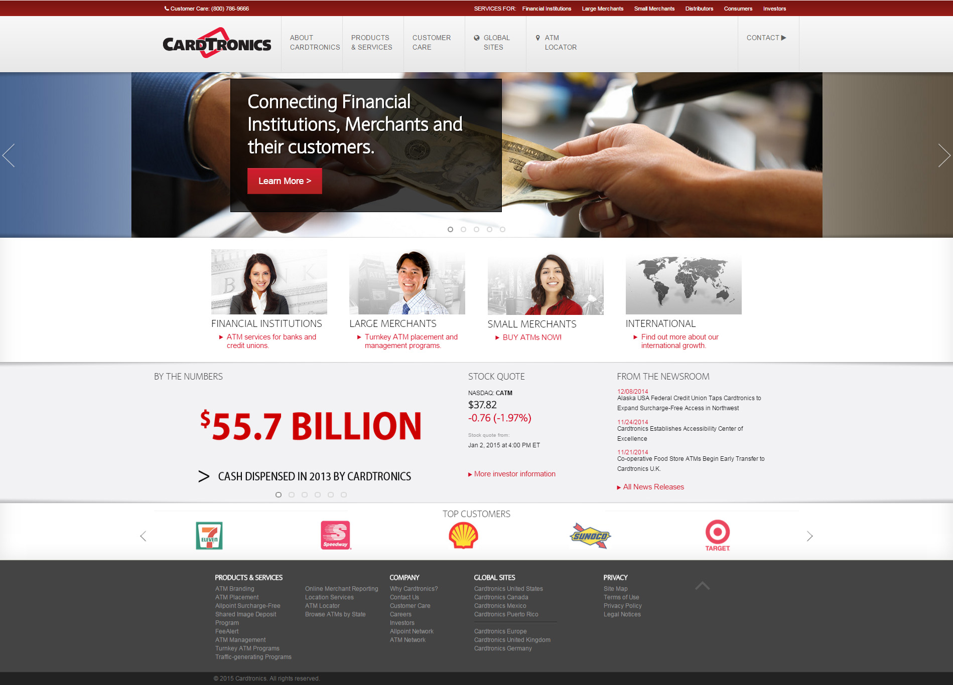 Cardtronics - Website, Email, Direct Mail, Advertisements, Videos, Application Development, User Interface Design, User Experience, Analytics, Tradeshow Presentations