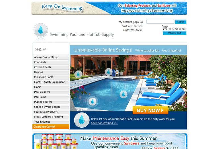 Swimming Pool and Hot Tub Supply - Website