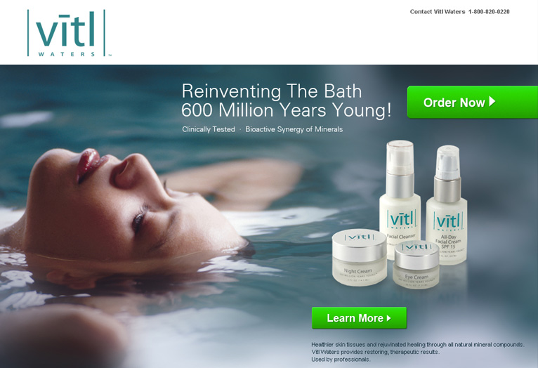 VITL Waters - Website design